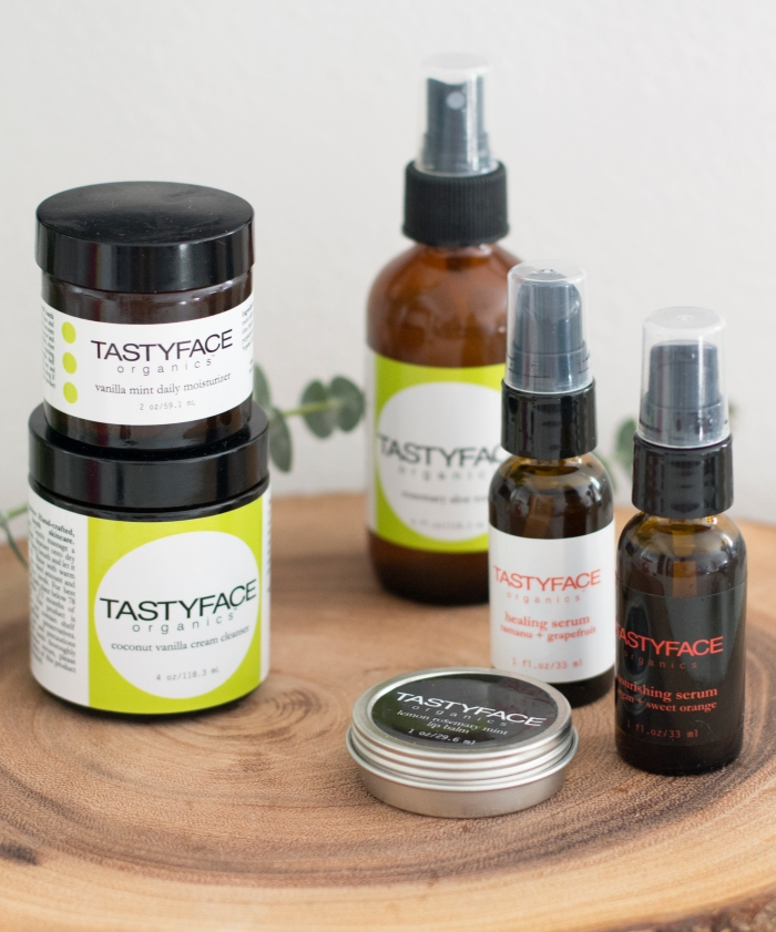 tastyface organics skincare; paleo friendly for your skin!